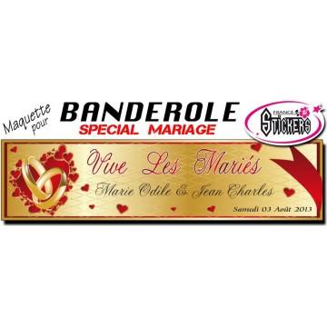 Banderole Mariage Personnalisée (M0022FS2012)