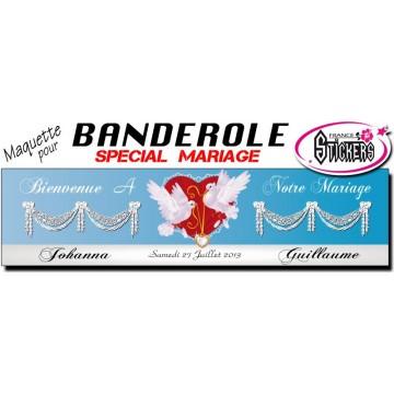 Banderole Mariage Personnalisée (M0024FS2012)