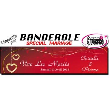 Banderole Mariage Personnalisée (M0025FS2012)