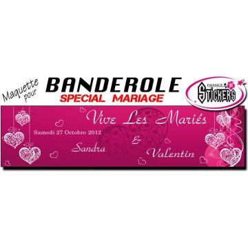 Banderole Mariage Personnalisée (M0026FS2012)