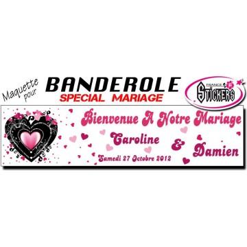 Banderole Mariage Personnalisée (M0027FS2012)