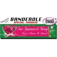 Banderole Mariage Personnalisée (Maquette M0028FS2012)