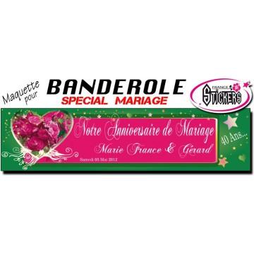 Banderole Anniversaire de Mariage Personnalisée (M0028FS2012)