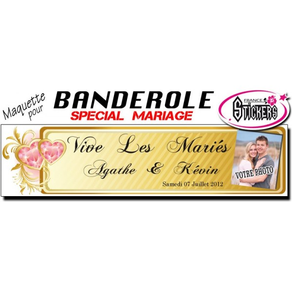 banderole mariage personnalise maquette m0029fs2012 - Banderole Mariage Personnalise