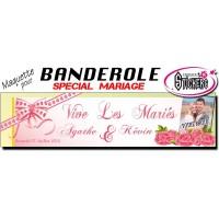 Banderole Mariage Personnalisée (Maquette M0030FS2012)
