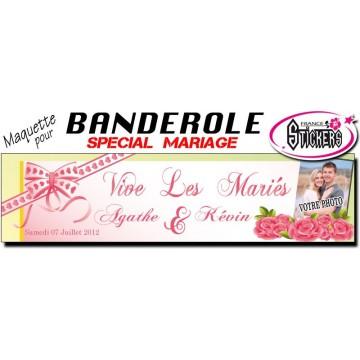 Banderole Mariage Personnalisée (M0030FS2012)