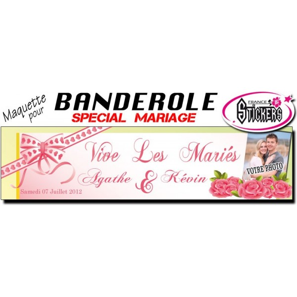 banderole mariage personnalise maquette m0030fs2012 - Banderole Mariage Personnalise