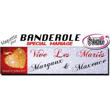 Banderole Mariage Personnalisée (M0031FS2012)