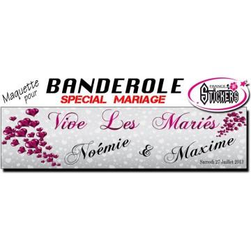 Banderole Mariage Personnalisée (M0032FS2012)