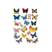 stickers Planche de 21 Papillons