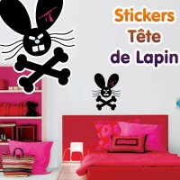 Stickers Tête de Lapin