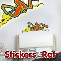 Stickers Graffiti Rat