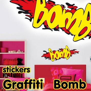 stickers autocollant ado graffiti bomb pas cher france stickers. Black Bedroom Furniture Sets. Home Design Ideas