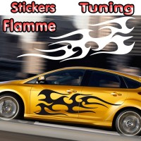 Stickers Tuning Flamme par 2 stf9