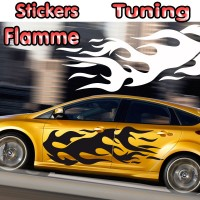Stickers Tuning Flamme par 2 stf10