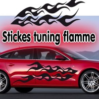 Stickers Tuning Flamme par 2 stf11