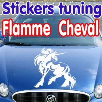 Stickers Tuning Cheval Flamme