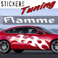 Stickers Tuning Flamme par 2 STF13