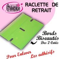 Raclette de Retrait Verte pour Stickers et Autocollants