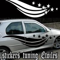 Stickers Tuning Étoiles par 2