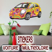 Stickers voiture multicolore