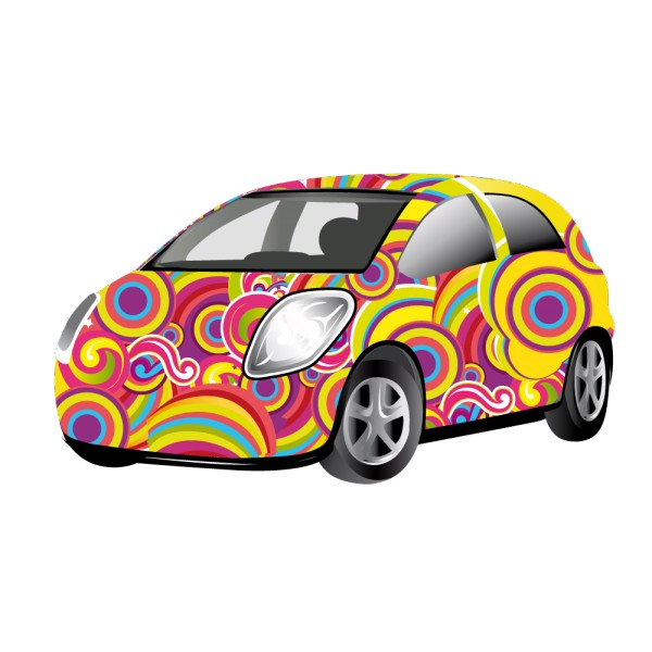 stickers voiture multicolore france stickers. Black Bedroom Furniture Sets. Home Design Ideas