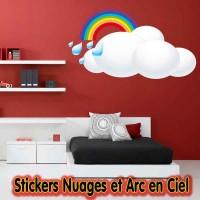 Stickers Nuages et Arc en Ciel
