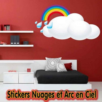 stickers nuage et arc en ciel france stickers. Black Bedroom Furniture Sets. Home Design Ideas