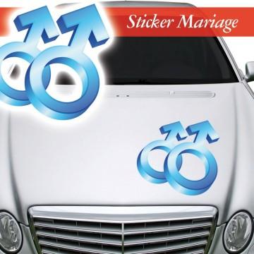 Stickers Mariage Symbole Masculin