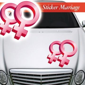 Stickers Mariage Symbole Féminin