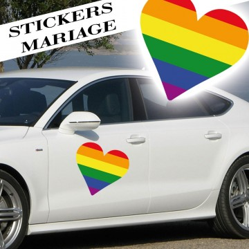 Stickers Mariage Coeur
