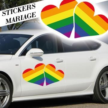 Stickers Mariage Coeurs entrelacés