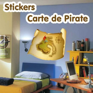 Stickers Carte de Pirate 2