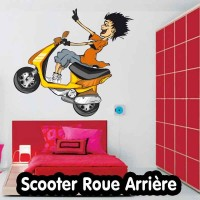 Stickers scooter roue arrière