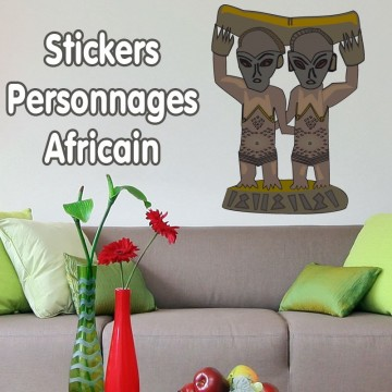 Stickers Afrique personnage