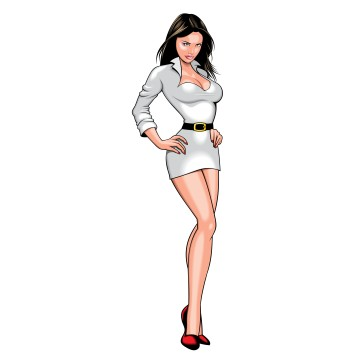 stickers Pin up Sexy 9