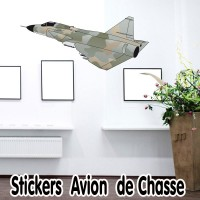 Stickers Avion de chasse 2