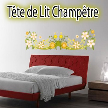 stickers t te de lit ou frise champ tre france stickers. Black Bedroom Furniture Sets. Home Design Ideas