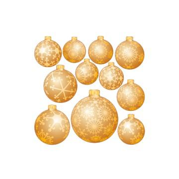 Stickers Planche de Boules de Noël 1
