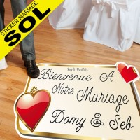 Sickers Mariage Spécial Sol - Double Coeur Classic