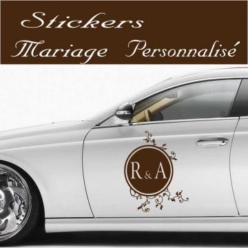 Stickers Mariage baroque Personnalisé vendu à l'unité