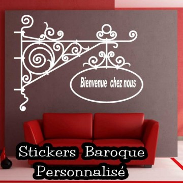 Sticker baroque personnalis france stickers - Sticker mural personnalise ...
