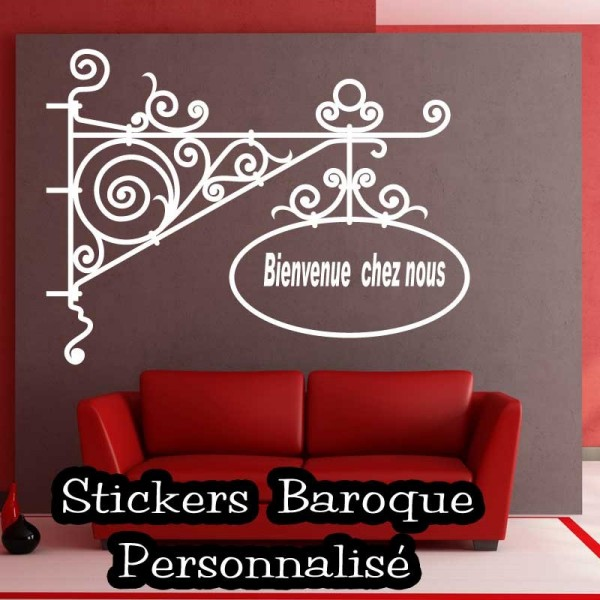 sticker baroque personnalis france stickers. Black Bedroom Furniture Sets. Home Design Ideas