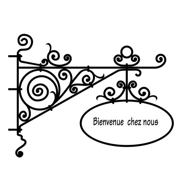 Sticker baroque personnalis france stickers - Chez nous anglet ...