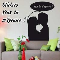 Stickers Veux Tu m'épouser