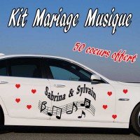 Stickers Mariage Musique