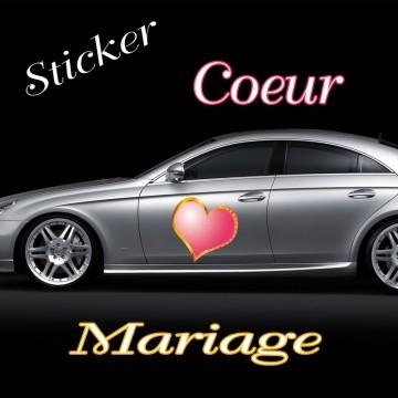 Stickers Cœur Mariage vendu par 2