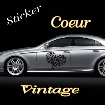 Stickers Mariage Cœur Vintage 3 vendu à l'unité