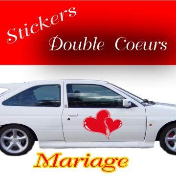 Stickers Mariage Cœur vendu par 2
