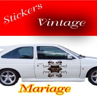 Stickers Mariage Vintage